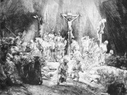 "Rembrandt ""The-Three-Crosses"" 15.5 x 20.6 cm"