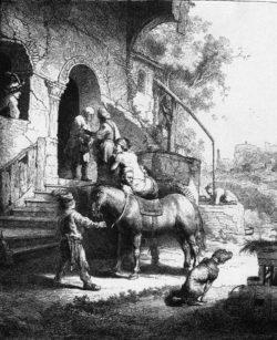"""Rembrandt """"Der-barmherzige-Samariter"""" 96 x 81 cm"""