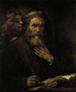 """Rembrandt """"Der-Evangelist-Matthäus"""" 88.5 x 67 cm"""