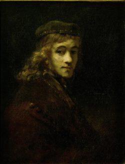 """Rembrandt """"Rembrandtts-Sohn-Titus"""" 24.5 x 20.3 cm"""