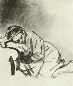 """Rembrandt """"Schlafendes-Maedchen"""" 67.5 x 52 cm"""