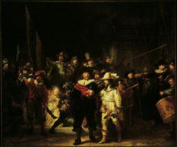 """Rembrandt """"Die-Nachtwache"""" 72 x 60 cm"""
