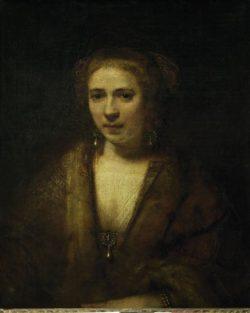 "Rembrandt ""Bildnis-der-Hendrickje-Stoffels"" 20.5 x 17 cm"
