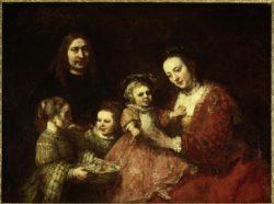 """Rembrandt """"Familienbildnis"""" 92 x 70.6 cm"""