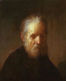 """Rembrandt """"Brustbild-eines-alten-Mannes"""" 90 x 69 cm"""