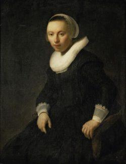 """Rembrandt """"Junge-Frau-im-Sessel"""" 90 x 67.5 cm"""