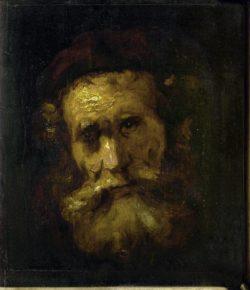 """Rembrandt """"Kopf-eines-Rabbiners"""" 21.2 x 16.2 cm"""