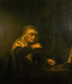 """Rembrandt """"Die-Goldwägerin"""" 113 x 135 cm"""