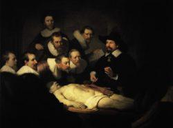 """Rembrandt """"Anatomische-Vorlesung-des-Dr-Nicolaes-Tulp"""" 52 x 72 cm"""