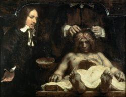 """Rembrandt """"Die-Anatomie-des-Dr-Johan-Deijman"""" 142 x 142 cm"""