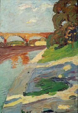"Wassily Kandinsky ""Diesar Bei Großhesselohe"" 23 x 32 cm"