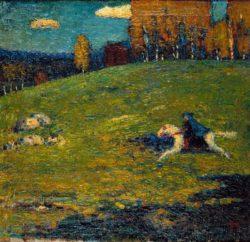 """Wassily Kandinsky """"Der Blaue Reiter"""" 55 x 52 cm"""