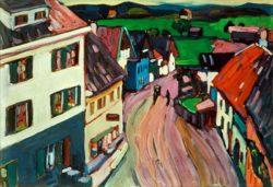 """Wassily Kandinsky """"Blick Aus Dem Fenster Des Griesbräu"""" 69 x 49 cm"""