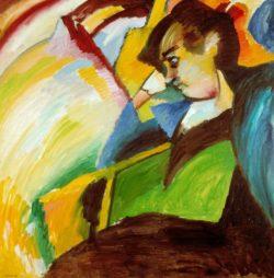 "Wassily Kandinsky ""Dame"" 109 x 110 cm"