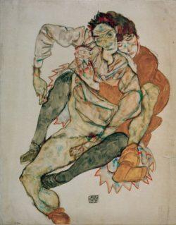"Egon Schiele ""Sitzendes Paar"" 41 x 52 cm"