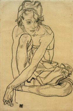 "Egon Schiele ""Kauernde"" 30 x 45 cm"