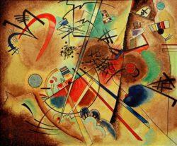 """Wassily Kandinsky """"Kleiner Traumn Rot"""" 41 x 35 cm"""