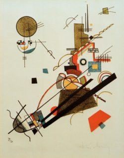 """Wassily Kandinsky """"Fröhlicher Aufstieg"""" 19 x 24 cm"""