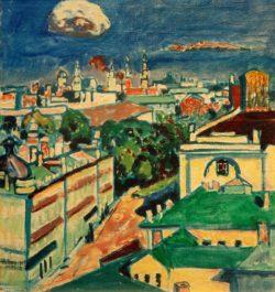 """Wassily Kandinsky """"Blick Auf Moskau Aus Dem Fenster"""" 36 x 40 cm"""