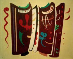 """Wassily Kandinsky """"Brun Supplemente"""" 100 x 81 cm"""