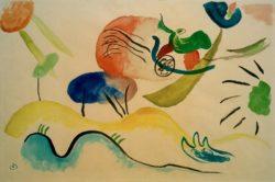 """Wassily Kandinsky """"Aquarell"""" 47 x 31 cm"""
