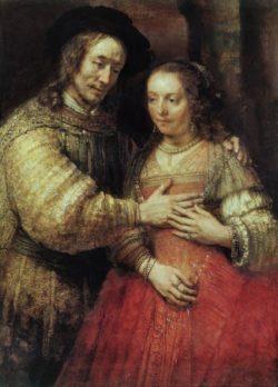 """Rembrandt """"Isaak-und-Rebekka"""" 85.8 x 63.8 cm"""