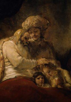 """Rembrandt """"Jakobs-Segen"""" 58 x 46 cm"""