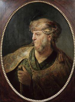 """Rembrandt """"Brustbild-eines-Mannes-in-orientalischem-Kostüm"""" 72.8 x 60.3 cm"""