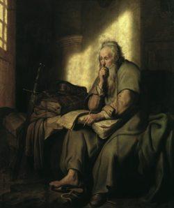 """Rembrandt """"Paulus-im-Gefängnis"""" 46.8 x 68.4 cm"""