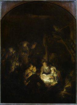 """Rembrandt """"Le-Adoration-des-Bergers"""" 40 x 29.4 cm"""