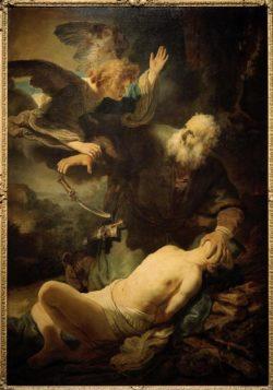 """Rembrandt """"Opferung-Isaaks"""" 40.3 x 64 cm"""