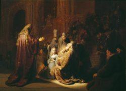 "Rembrandt ""Simeon-im-Tempel"" 115 x 135.5 cm"