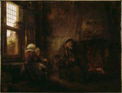 """Rembrandt """"Der-alte-Tobias-und-seine-Frau-Hanna"""" 98 x 79 cm"""