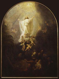 "Rembrandt ""Die-Himmelfahrt-Christi"" 89.4 x 65.2 cm"