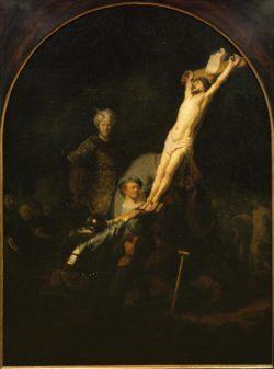 """Rembrandt """"Die-Kreuzaufrichtung"""" 89.5 x 123.6 cm"""