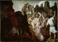"""Rembrandt """"Die-Steinigung-des-Stephanus"""" 78.5 x 63 cm"""