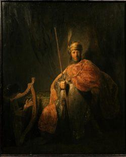 """Rembrandt """"David-vor-Saul-die-Harfe-spielend"""" 34.1 x 24.5 cm"""