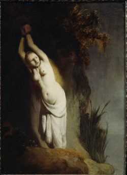 "Rembrandt ""Andromeda-an-einen-Felsen-gekettet"" 78 x 63 cm"