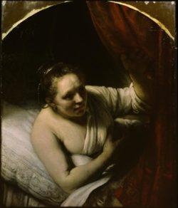 """Rembrandt """"Junge-Frau-im-Bett"""" 137.8 x 104.5 cm"""
