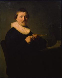 """Rembrandt """"Bildnis-eines-Feder-schneidenden-Mannes"""" 68 x 56.5 cm"""