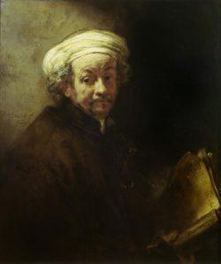 "Rembrandt ""Rembrand-Selbstbildnis-als-Apostel-Paulus"" 133.7 x 103.8 cm"