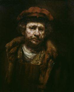 """Rembrandt """"Rembrand-Selbstbildnis-mit-roter-Mütze"""" 19 x 15 cm"""