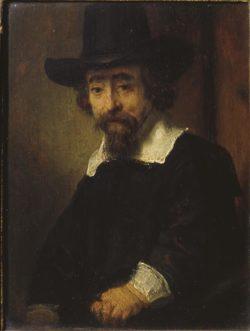 """Rembrandt """"Porträt-des-Arztes-Ephraim-Bueno"""" 77.8 x 64.5 cm"""