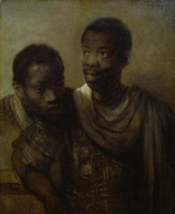 """Rembrandt """"Zwei-Mohren"""" 44 x 60 cm"""