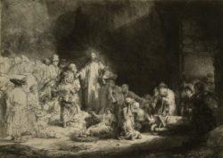"""Rembrandt """"Christus-heilt-die-Kranken"""" 130 x 102 cm"""