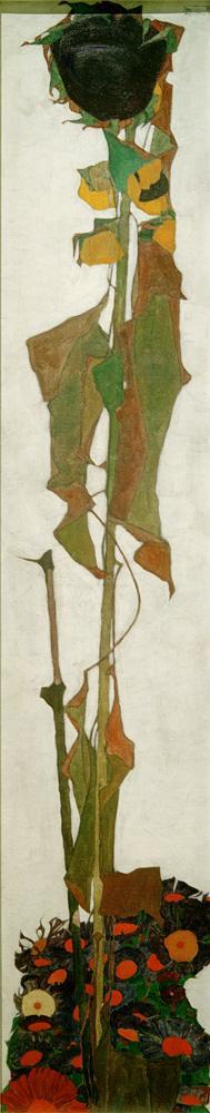 """Egon Schiele """"Sonnenblume 2"""" 30 x 150 cm"""