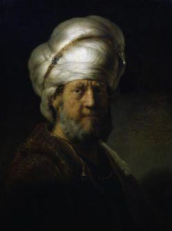 """Rembrandt """"Bildnis-eines-Orientalen"""" 66.5 x 49.7 cm"""