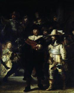 """Rembrandt """"Die-Nachtwache"""" 49 x 39 cm"""