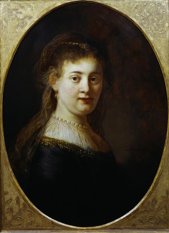 """Rembrandt """"Saskia-mit-Schleier"""" 80 x 60 cm"""