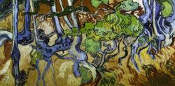 """Vincent van Gogh """"Baumwurzeln und Baumstaemme"""", 50 x 100 cm"""